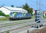 Lokomotiva: Re 475.405 ( CH-BLSC 91 85 4 475 405-7 ) + Re 475. | Místo a datum: Gallarate (IT) 24.08.2018